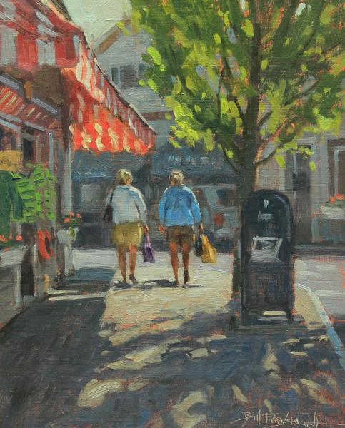 American Sidewalk, oil on linen, 10 x 8 inches, $900