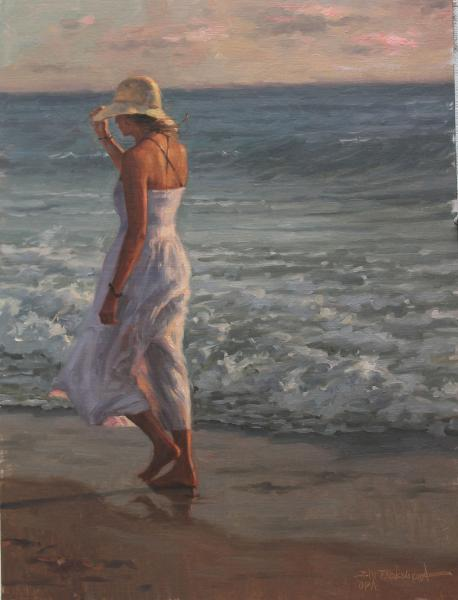 On Shore Breeze, oil on panel, 24 x 18 inches  SOLD