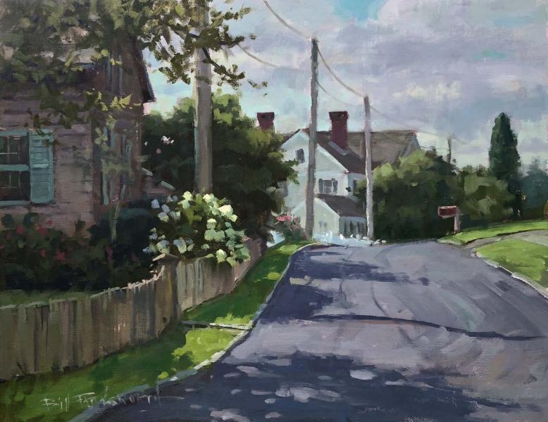 Summer Stroll, oil on panel, 11 x 14 inches, $1,600