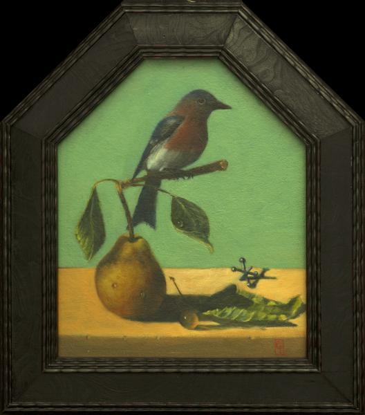 Out on a Limb, oil on panel, 7 x 8.5 inches   SOLD