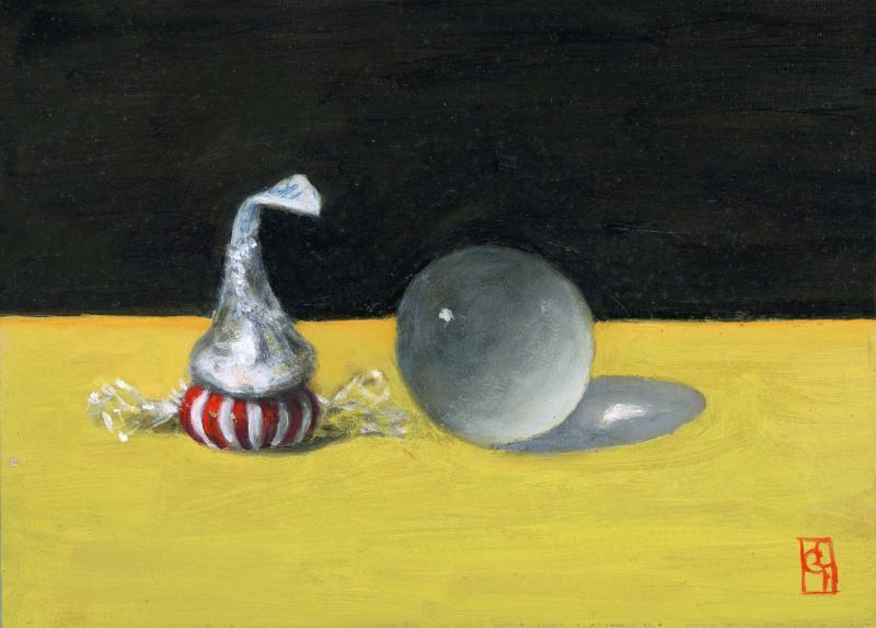 Part of the Big Picture II, oil on panel, 5 x 7 inches, $500