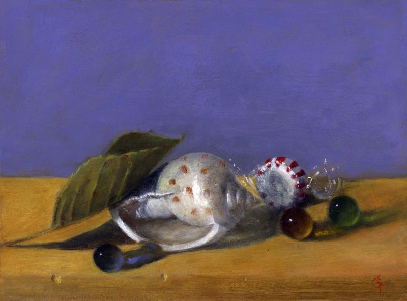 Shell Group, oil on panel, 6 x 8 inches   SOLD