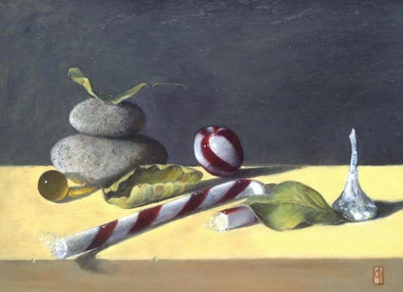 Rocked II, oil on panel, 9 x 12 inches , $975