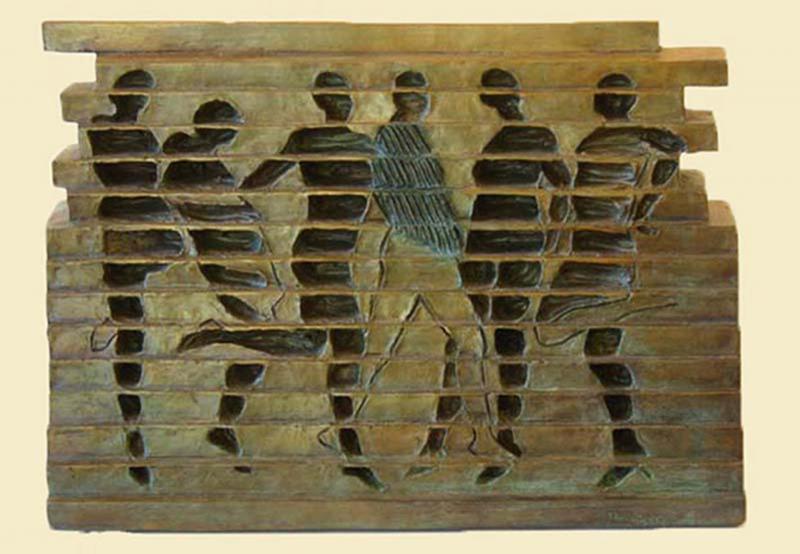 Six Dancers, bronze, 13 x 18 inches, $6,500