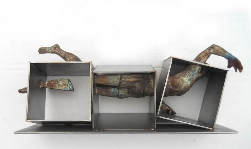 Swimmer, bronze, 8 x 23 inches, $10,000