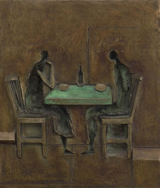 Diners, bronze, 15 x 12.5 inches, $7,500