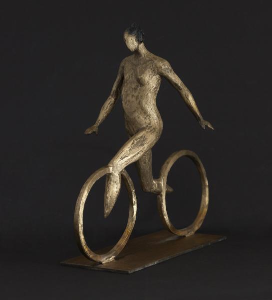 Cyclist, bronze, 10 x 11 inches, $5,000