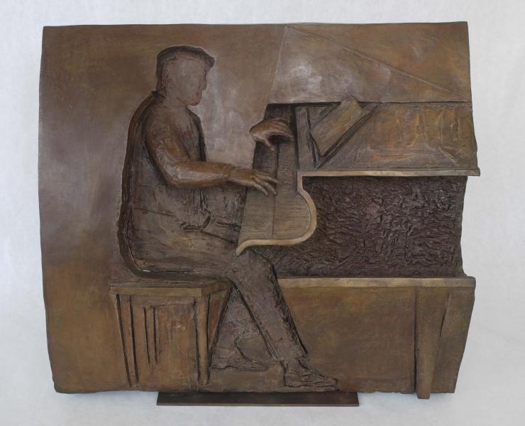 Pianist - Jazz Series , bronze, 14 x 16 inches, $6,500
