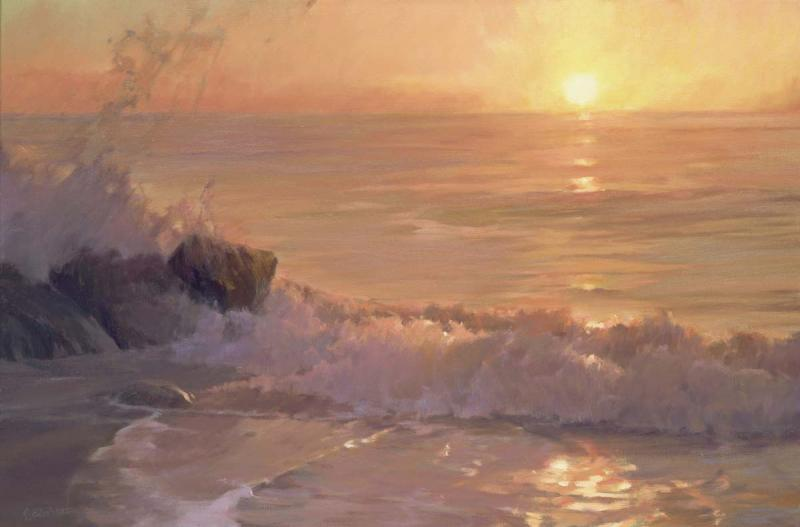 Dawning, oil on canvas, 24 x 36 inches  SOLD