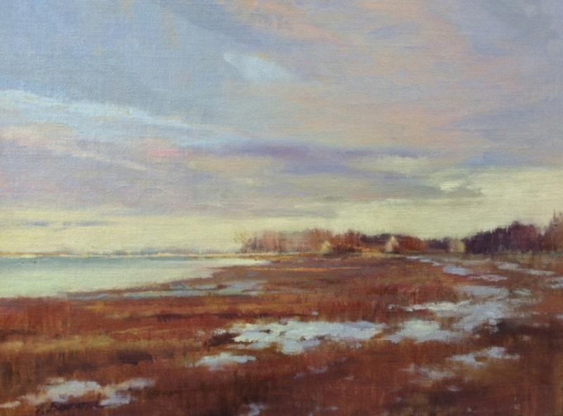 January Thaw, oil on canvas, 9 x 12 inches, $1,600