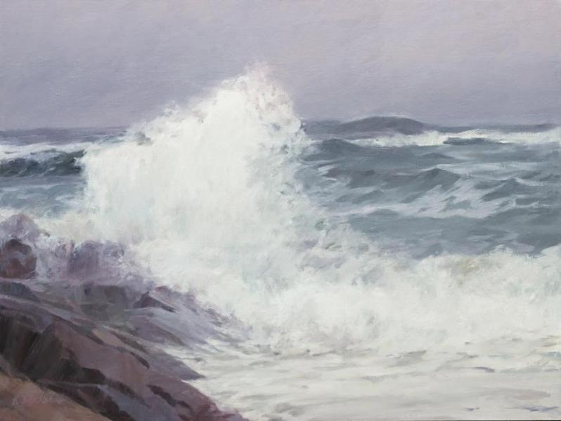 Nor'easter Coming, oil on canvas , 18 x 24 inches, $3,600