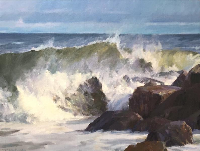 Plum Island Surf, oil on canvas, 12 x 16 inches, $2,500
