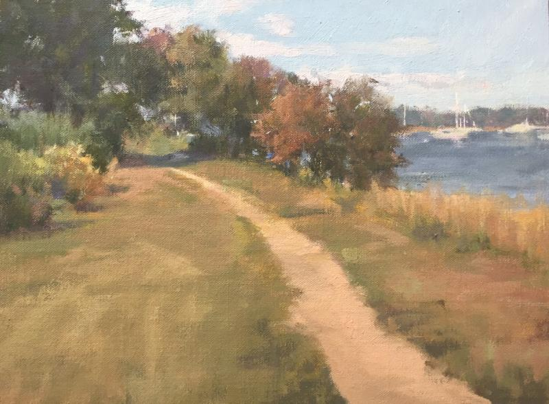River Walk, oil on canvas, 9 x 12 inches, $2,200