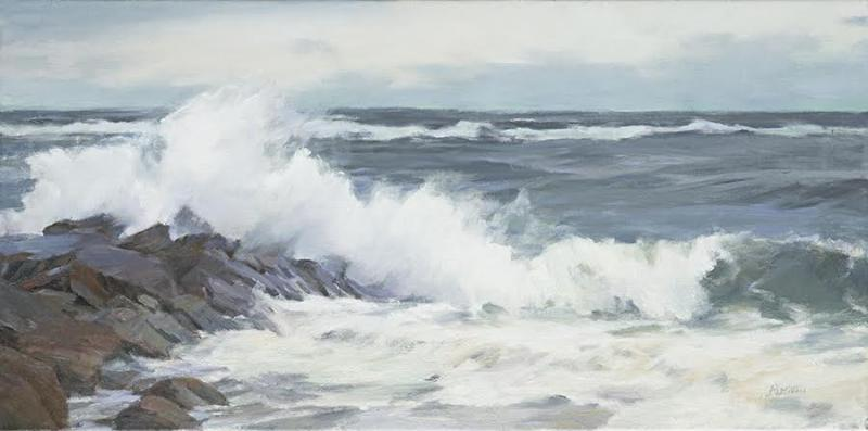 Seacoast, oil on canvas, 12 x 24 inches, $3,500