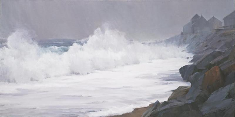 Storm's End, oil on canvas, 18 x 36 inches , $4,600