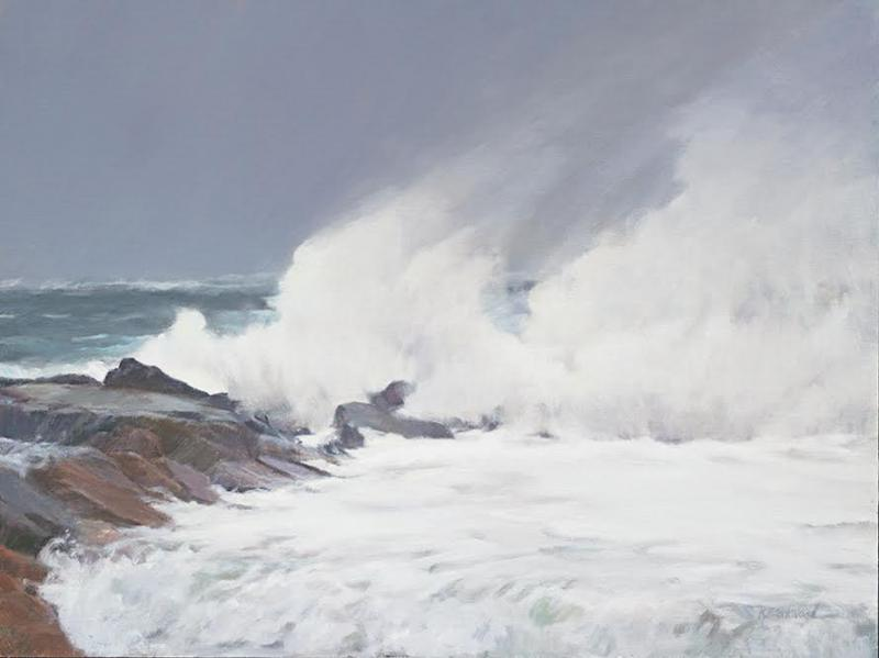 Stormy Sea, oil on canvas, 18 x 24 inches  SOLD