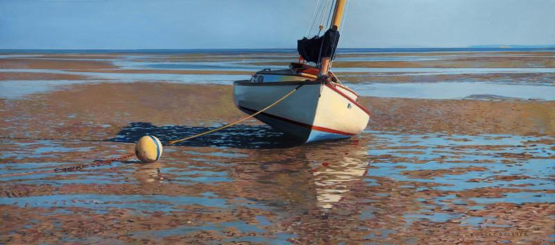 Soft Bottom, oil on canvas, 20 x 40 inches  SOLD