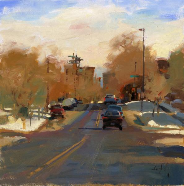 12th Avenue, oil on panel, 12 x 12 inches, $2,000