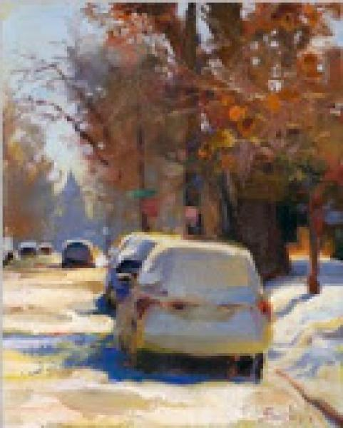 A Winter's Day, oil on canvas, 10 x 8 inches  SOLD