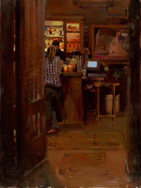 After Hours, oil on canvas, 12 x 16 inches  SOLD