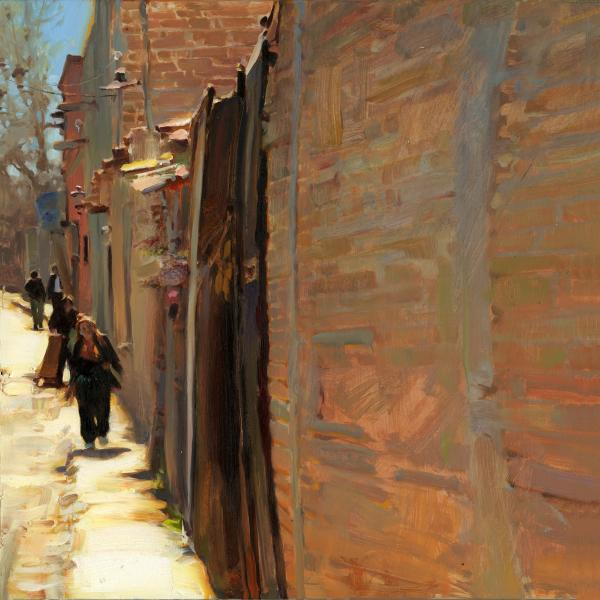 Brick Walls of San Miguel, oil on canvas, 18 x 18 inches  SOLD