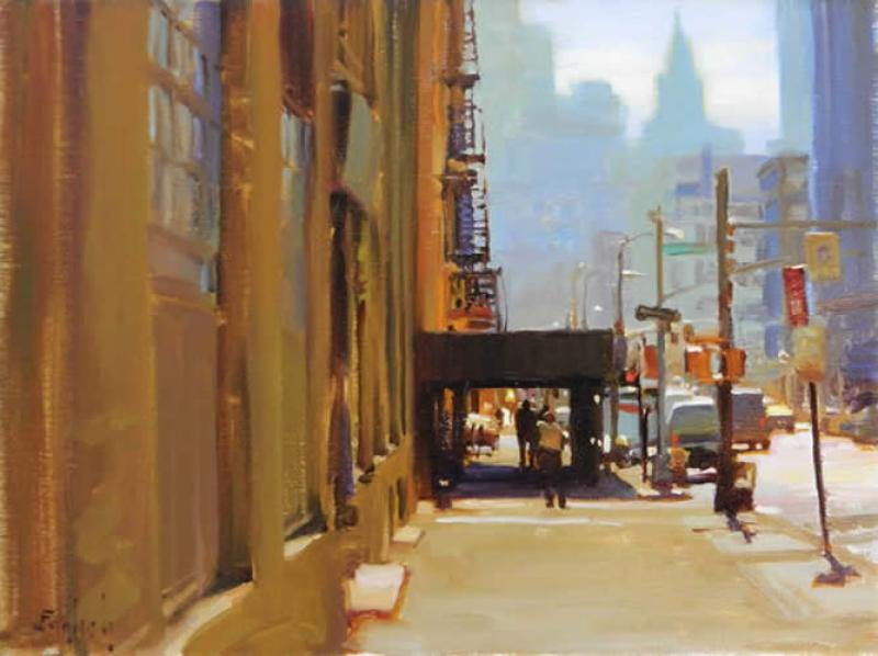 Streets Of New York, oil on canvas, 12 x 16 inches  SOLD