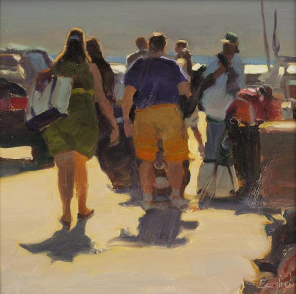 MacMillan Pier, oil on canvas, 10 x 10 inches, $1,600