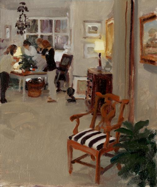 Opening Night, oil on canvas, 10 x 12 inches  SOLD
