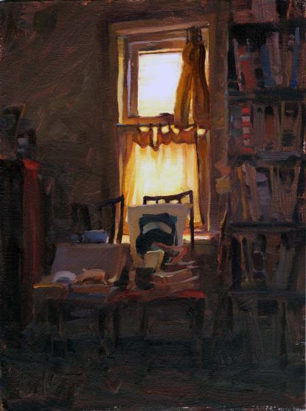 Quiet Room, oil on canvas, 12 x 16 inches  SOLD
