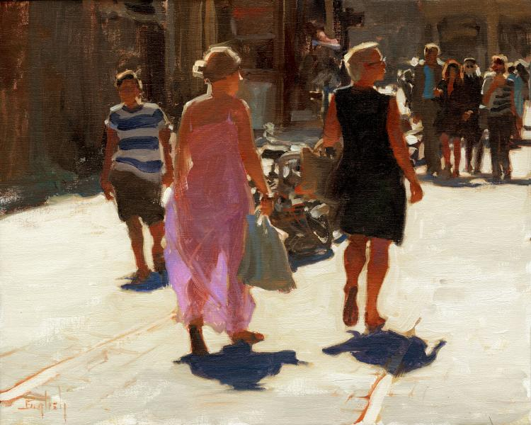 Shop Proud, oil on canvas, 16 x 20 inches  SOLD