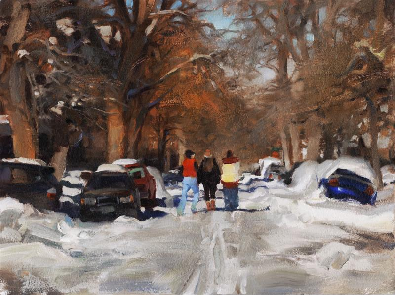 Weekend Melt, oil on canvas, 12 x 16 inches  SOLD