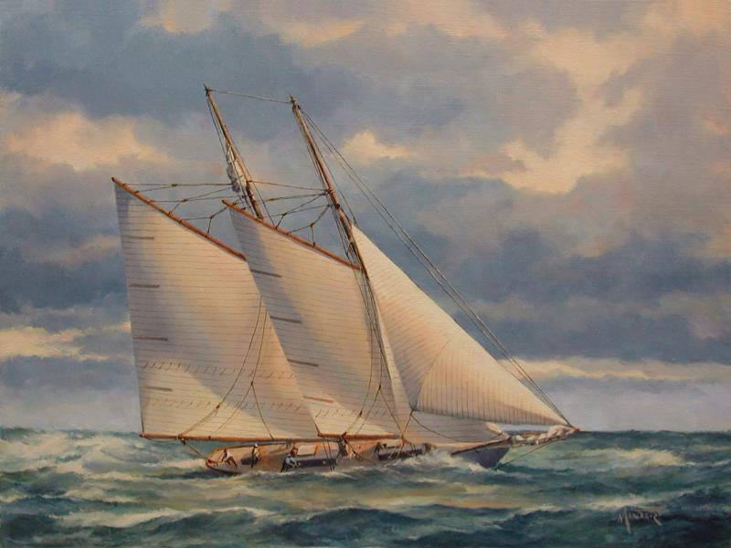 Bracing for the Storm, oil on stretched Belgian linen, 12 x 16 inches, $3,900