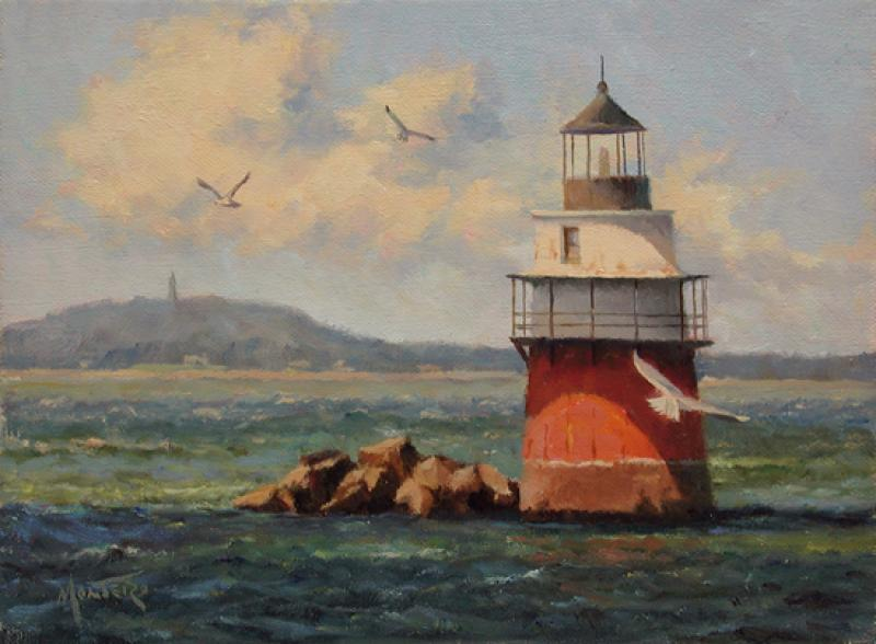 Bug Light, oil on stretched Belgian linen, 6 x 8 inches, $1,200