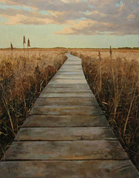Cape Cod Boardwalk, oil on stretched Belgian linen, 24 x 18 inches, $3,800