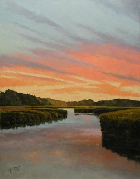 Cape Cod Sunset, oil on stretched Belgian linen, 24 x 18 inches, $3,800