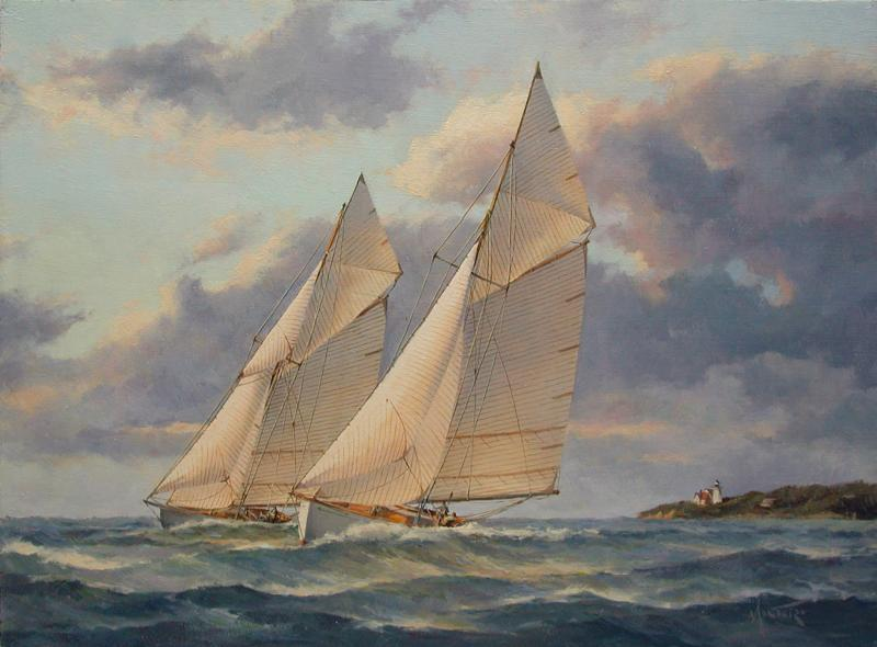 Crossing the Sound, oil on stretched Belgian linen, 12 x 16 inches, $3,900