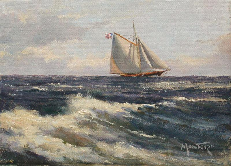 Easterly Wind, oil on stretched Belgian linen, 5 x 7 inches   SOLD
