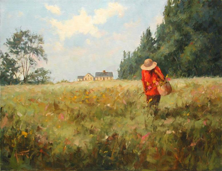 Field of Wild Flowers, oil on stretched Belgian linen, 18 x 14 inches, $3,200