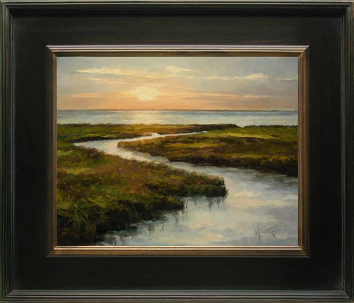 Golden Sunset, oil on stretched Belgian linen, 14 x 12 inches, $2,900
