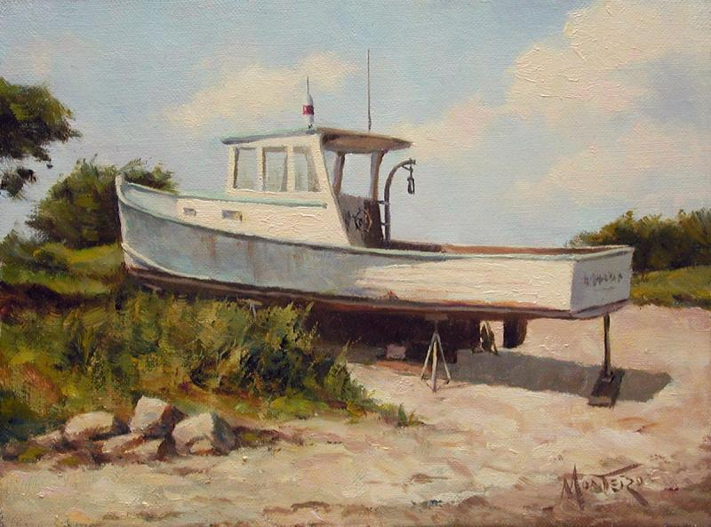 High and Dry, oil on stretched Belgian linen, 6 x 8 inches, $1,200