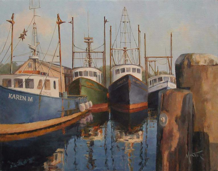Menemsha Parking Lot, oil on stretched Belgian linen, 11 x 14 inches   SOLD