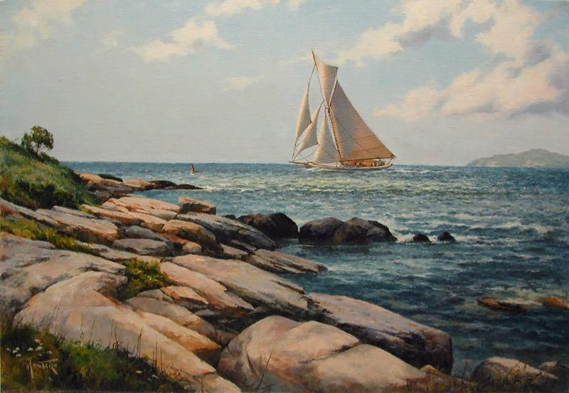 Morning Departure, oil on stretched Belgian linen, 14 x 20 inches, $5,400