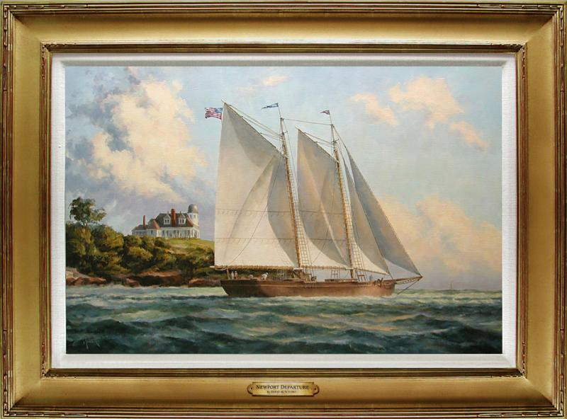 Newport Departure, oil on stretched Belgian linen, 20 x 30 inches, $6,200