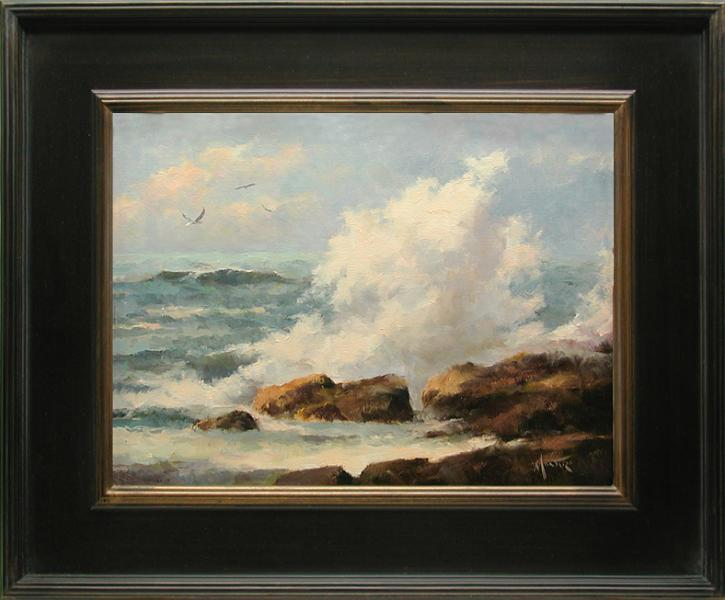 Ocean Thunder, oil on stretched Belgian linen, 16 x 12 inches, $3,200