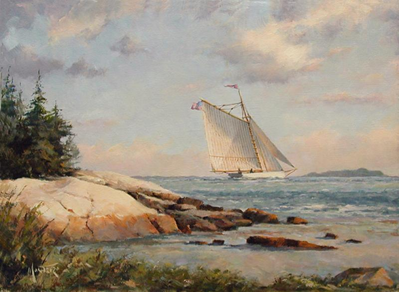 Off  the Rocky Shore, oil on stretched Belgian linen, 9 x 12 inches  SOLD