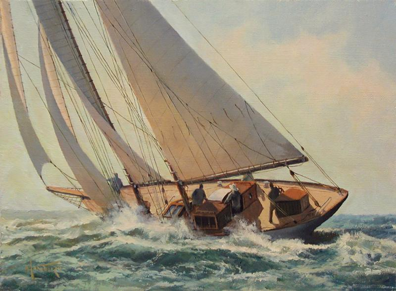 Offshore Sailing, oil on stretched Belgian linen, 9 x 12 inches  SOLD