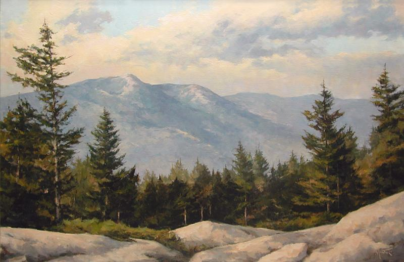 Presidential Range, NH, oil on stretched Belgian linen, 30 x 20 inches, $4,800
