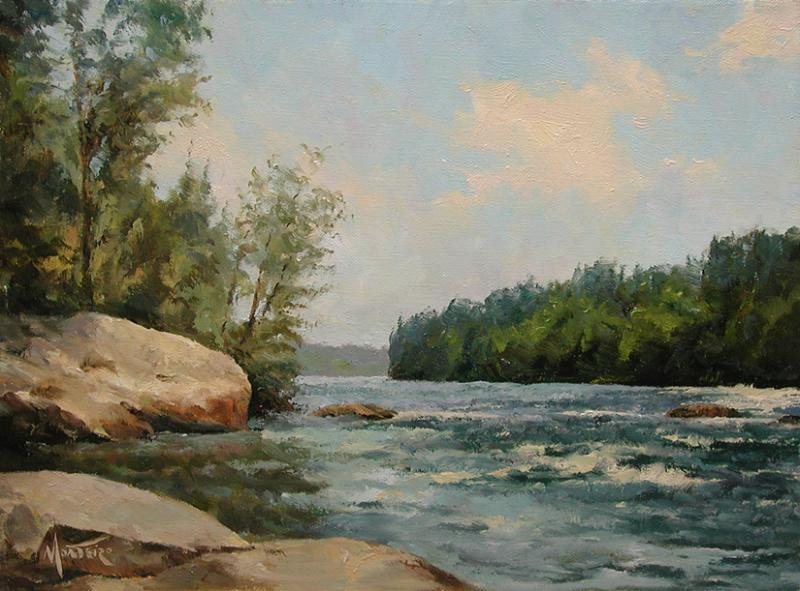 River Bend, oil on stretched Belgian linen, 9 x 12 inches, $2,400