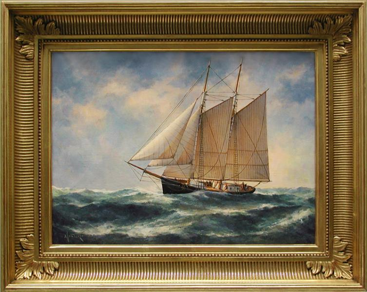 Stormy Seas, oil on stretched Belgian linen, 16 x 12 inches, $3,400