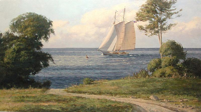 Summer Breeze, oil on stretched Belgian linen, 20 x 36 inches, $8,600